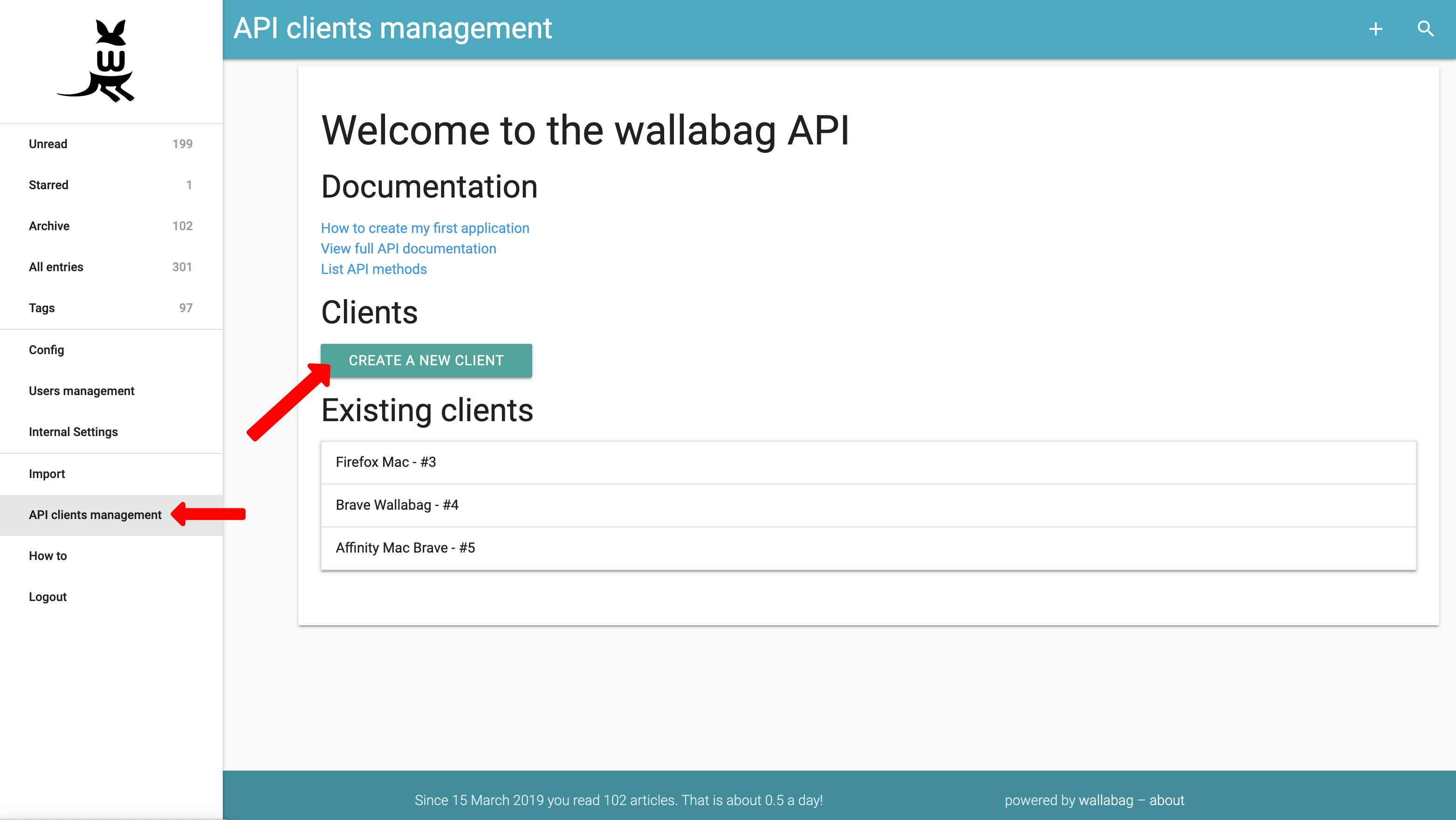 API Clients Management